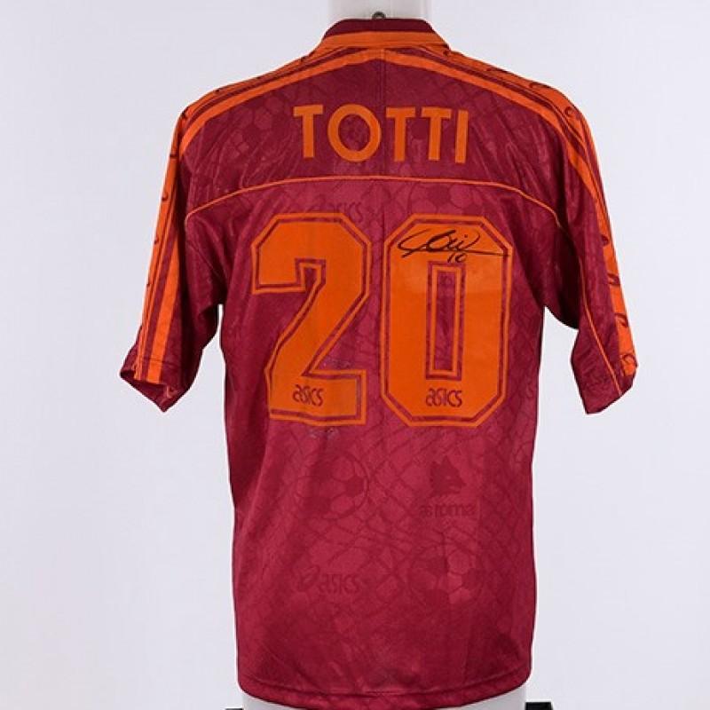 Francesco Totti's 1995/96 Signed Shirt