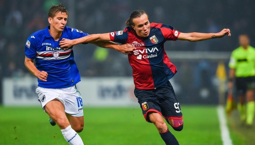 Laxalt's UNWASHED Special Genoa-Sampdoria Match-Worn Shirt