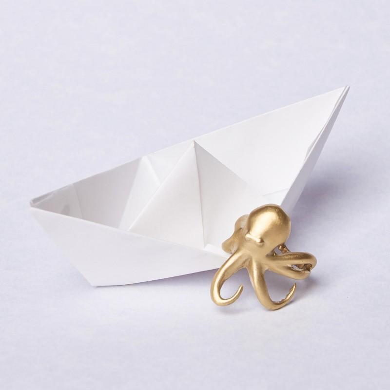 Bronze Octopus Ring by Bona Calvi