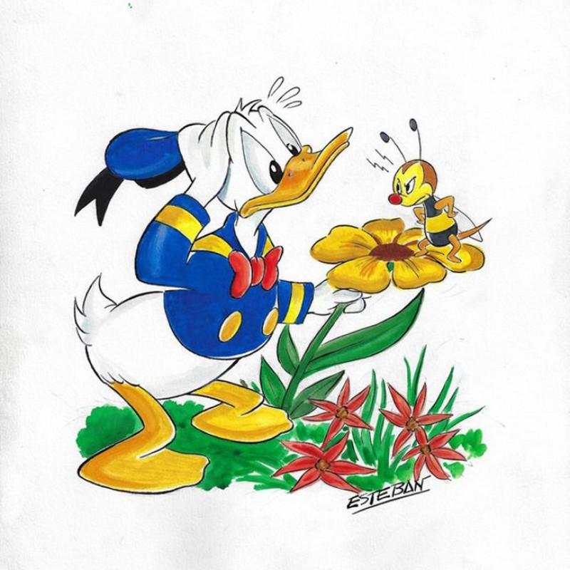 Original Donald Duck Drawing by Ignasi Calvet Esteban