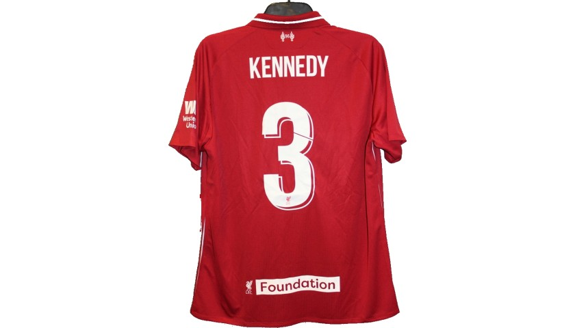 818cb58c9 Kennedy s Liverpool Legends Game Worn and Signed Shirt. Supporting  Liverpool FC Foundation