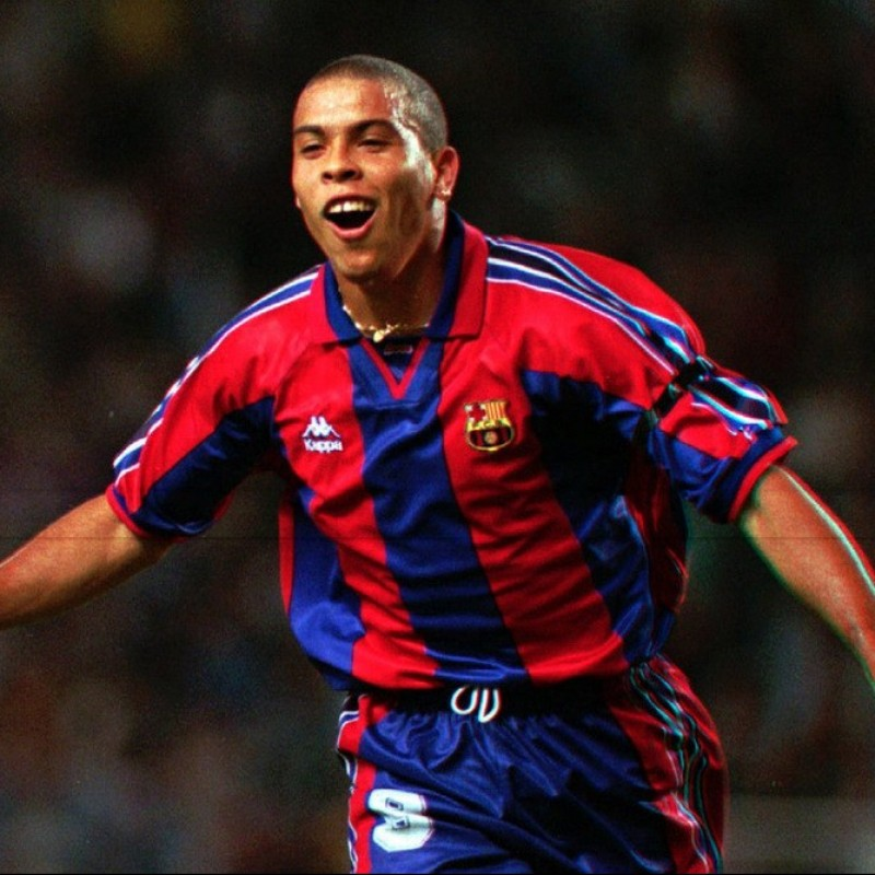 Ronaldo's Official Barcelona Signed Shirt, 1996/97