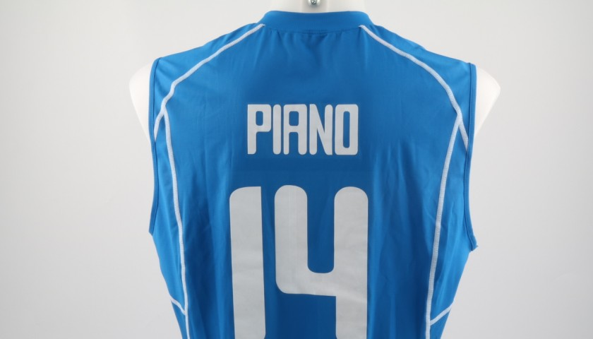 Match worn Piano shirt, Rio 2016 - signed