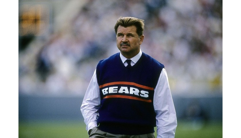 Mike Ditka Signed Stat Jersey