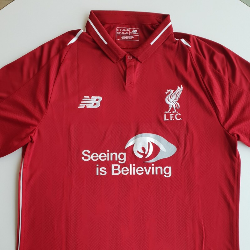 Match-Issued 2018/19 LFC Home Shirt signed by Andy Robertson