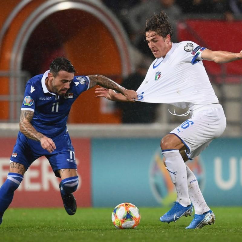 Zaniolo's Match Shirt, Liechtenstein-Italy 2019