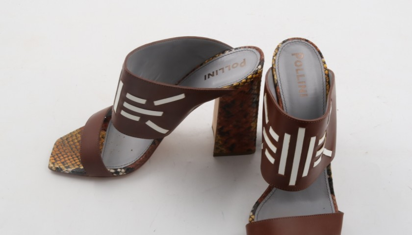 Exclusives Pollini leather sandals