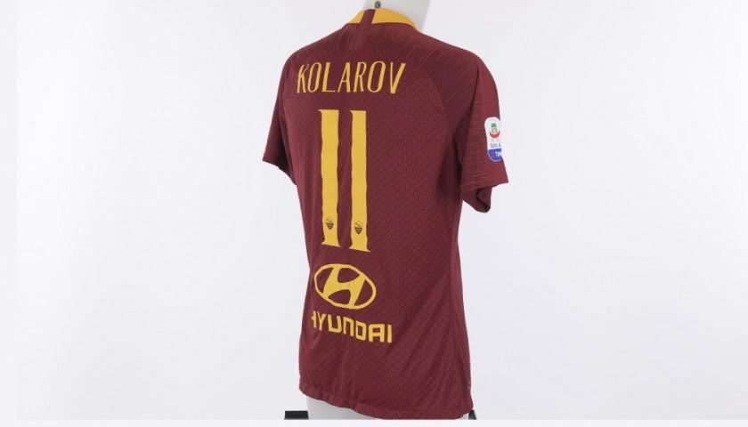 Kolarov's Worn Roma-Atalanta 2018/19 Shirt - CharityStars