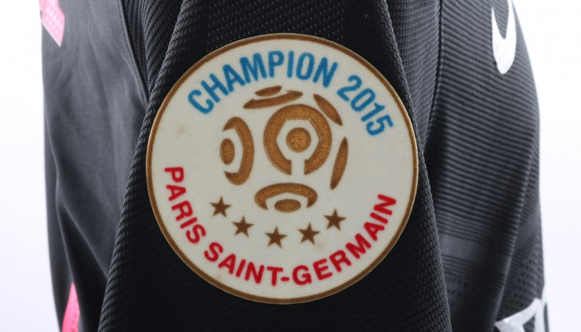 David Luiz's PSG Match-Issue/Worn Ligue One 2015/16 Shirt