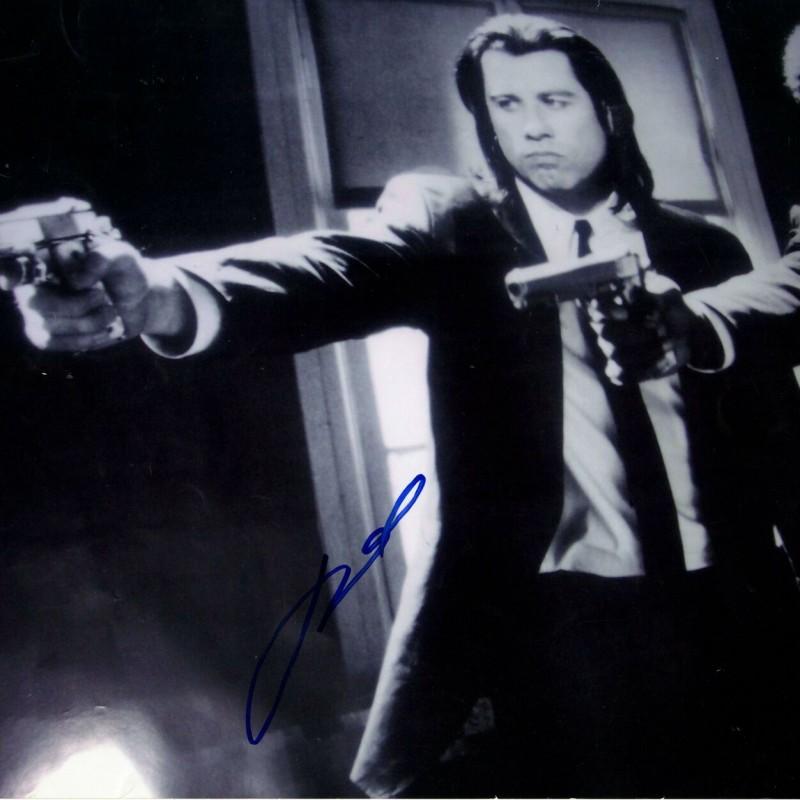"John Travolta ""Pulp Fiction"" Hand Signed Photograph"