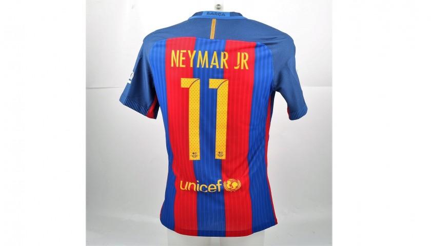 brand new 85954 535ab Neymar's Match-Issued/Worn Shirt, Barcelona-Eibar, #Wembley25 - CharityStars