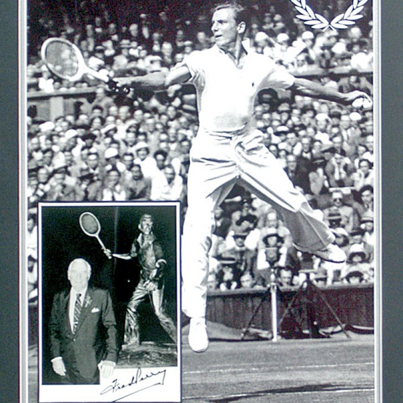 Fred Perry, 'Rare' Hand Signed Tennis Legend Presentation