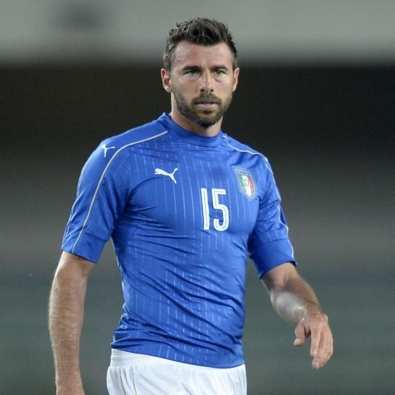 Maglia Barzagli Italia, preparata Euro 2016 autografata
