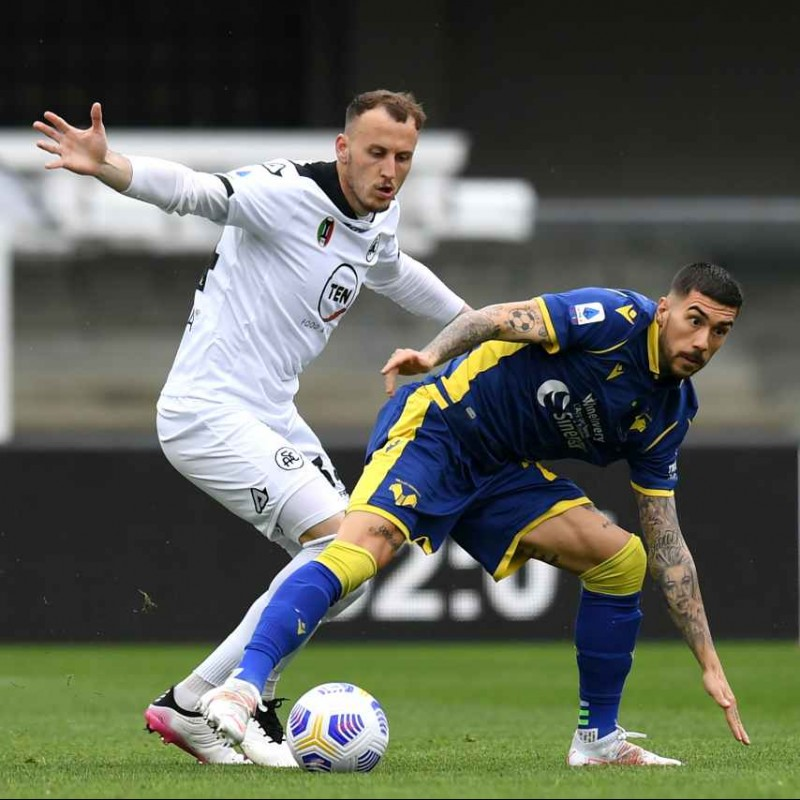 Zaccagni's Signed Match Shirt, Hellas Verona-Spezia 2021