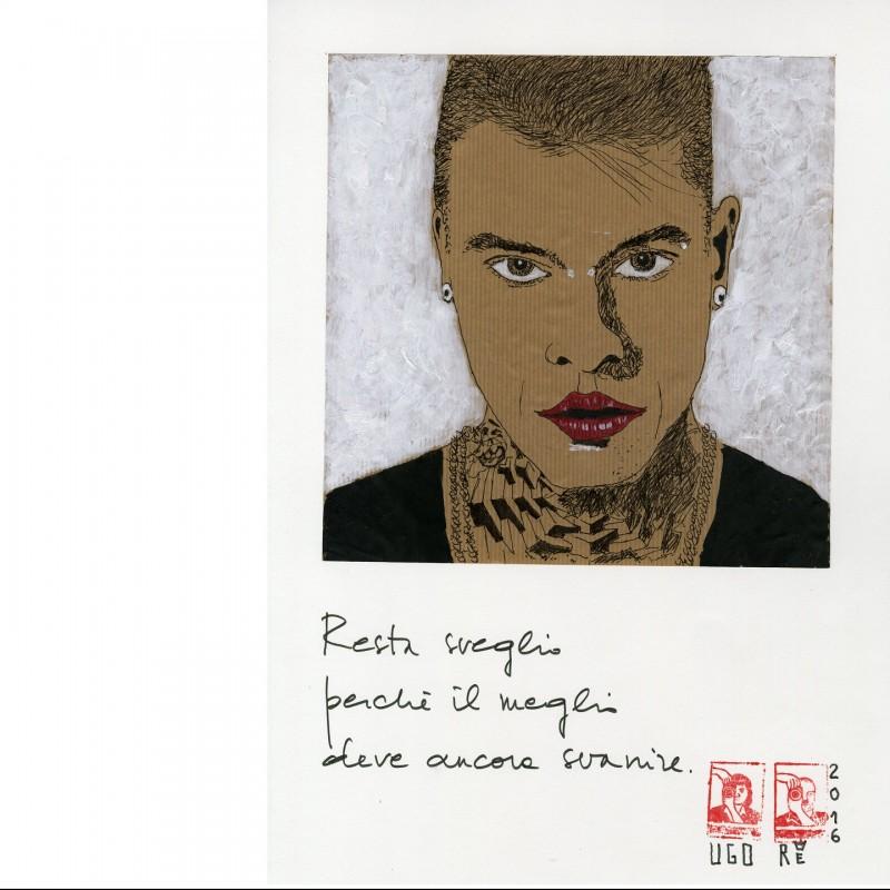 Fedez' portrait by Ugo Re
