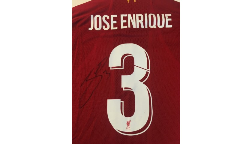 Enrique's Liverpool FC Legends Match Worn and Signed Shirt