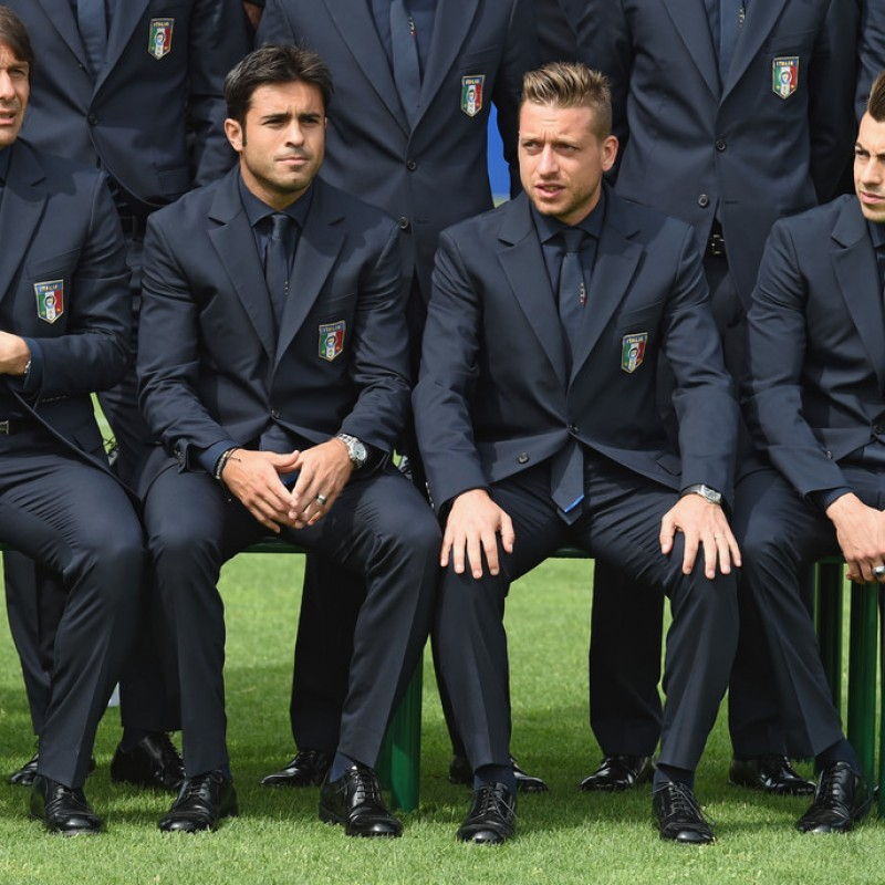 Italy National Football Team Suit Worn by Emanuele Giaccherini