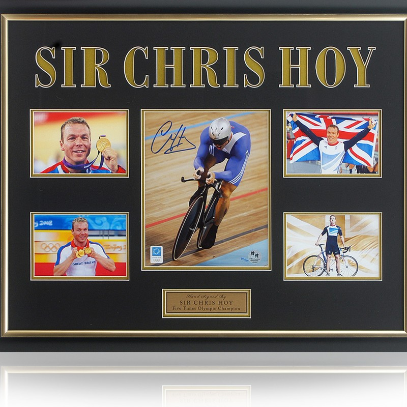 Sir Chris Hoy Signed London 2012 Olympics Numbered Photo