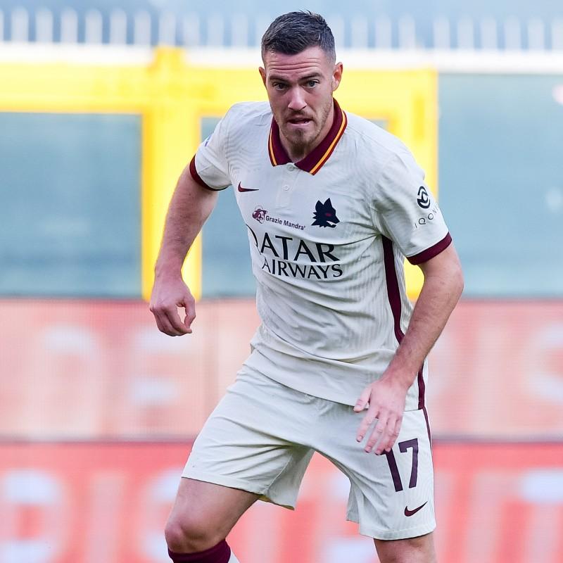 Veretout's Worn Shirt, Genoa-Roma 20/21 - Tribute to Gigi Proietti