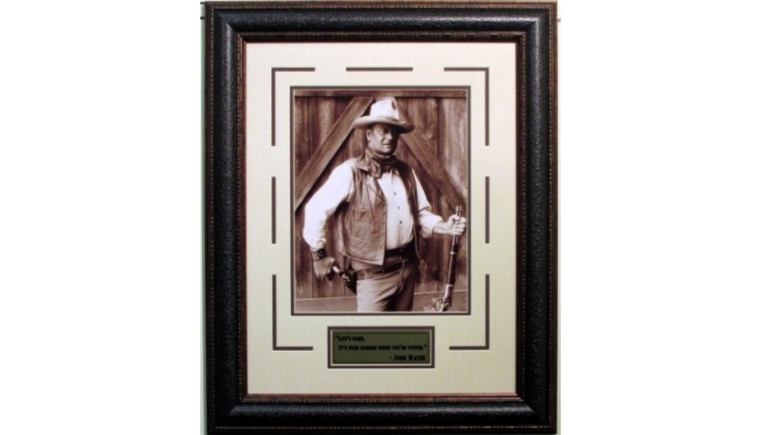 """""""Life is Hard. It's Even Harder When You're Stupid"""" Autographed Photo of John Wayne"""
