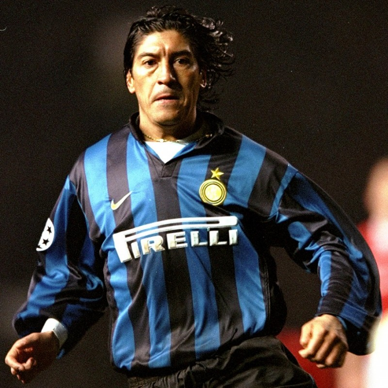 Inter Official Jacket Signed by Zamorano