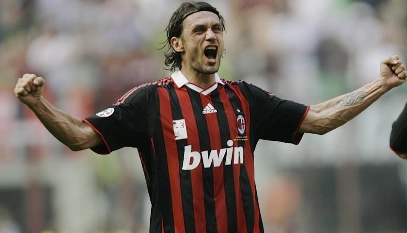 Maglia Ufficiale Maldini Milan, 2008/09 - Autografata
