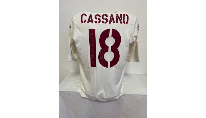 Cassano's Roma Signed Match Shirt, 2003/04