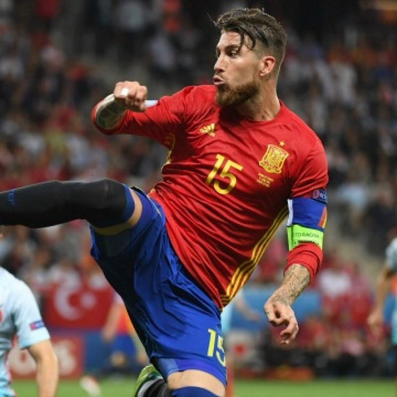 Sergio Ramos' Official Spain Signed Shirt, 2016/17