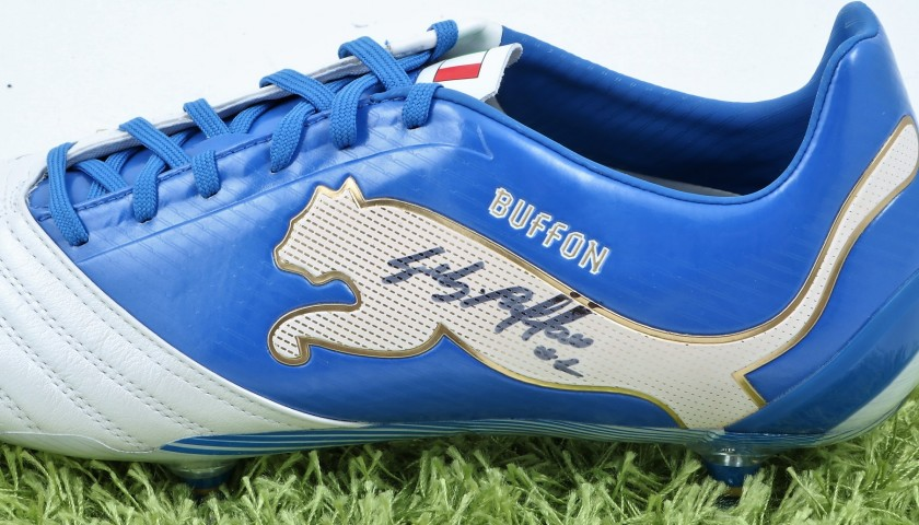 Buffon's Puma Cleats - Issued and Signed