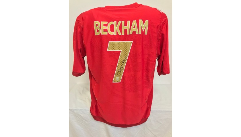 Beckham's Official England Signed Shirt, 2006/2007
