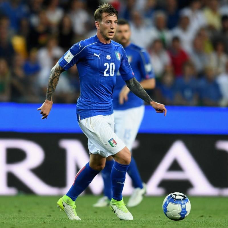 Bernardeschi's Match Shirt, Italy-Israel 2017 + Bib
