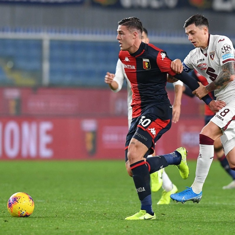 Favilli's Genoa Match-Issued Signed Shirt, 2019/20