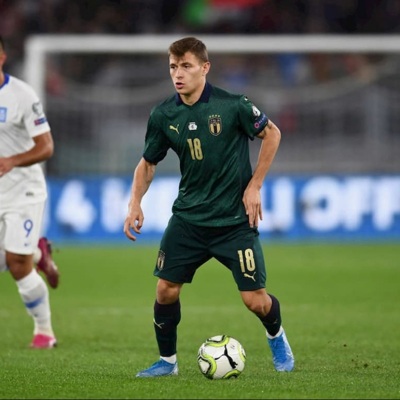 Barella's Match Shirt, Italy-Greece 2019