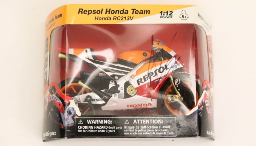 Repsol Honda Team Scale Model Signed by Marc Marquez