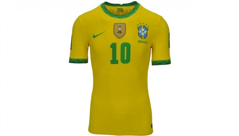 Neymar's Brazil Match Shirt, World Cup Qualifiers 2022