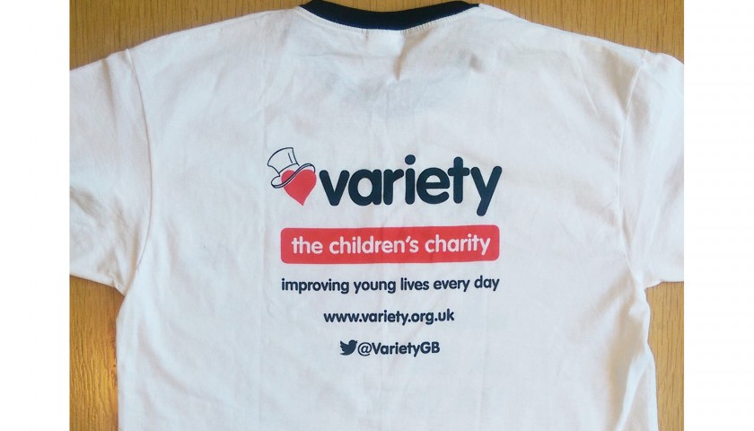 'I Love A Bit of Variety T-Shirt' Signed by the Holby City Cast.