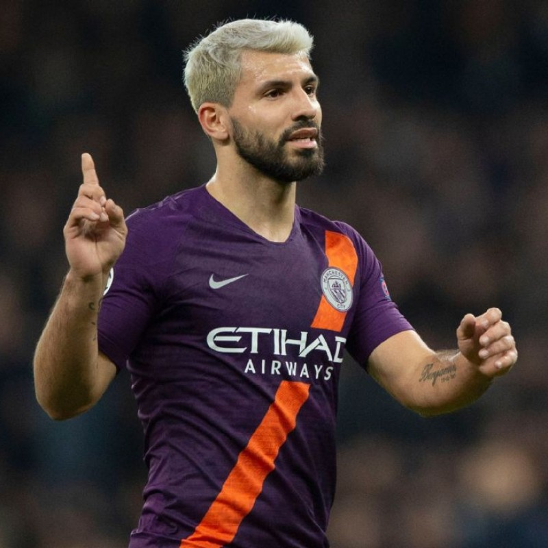 Aguero's Official Man City Signed Shirt, 2019