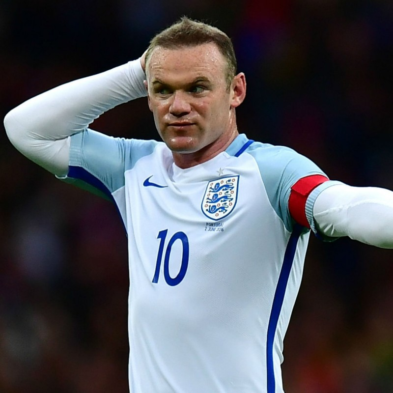 Official England Shirt, 2016 - Signed by Rooney