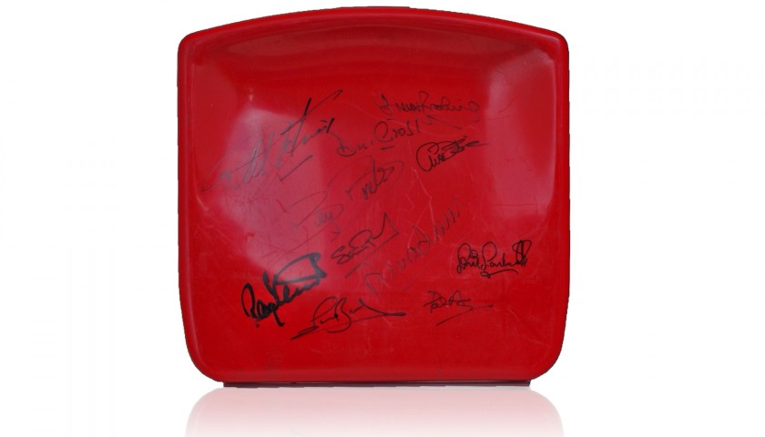 Boleyn Ground Stadium Seat Hand Signed by West Ham United Legends