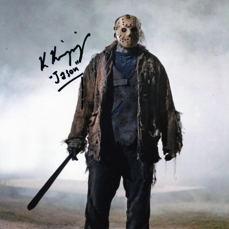 """Ken Kirzinger Signed Photograph - Jason in """"Freddy vs Jason"""""""