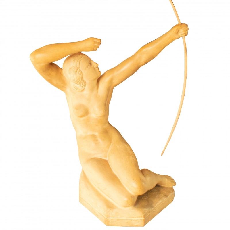 Terracotta Sculpture of Archer by Georges Chauvel