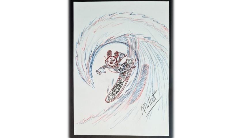 Original Mickey Mouse Drawing by José María Millet López