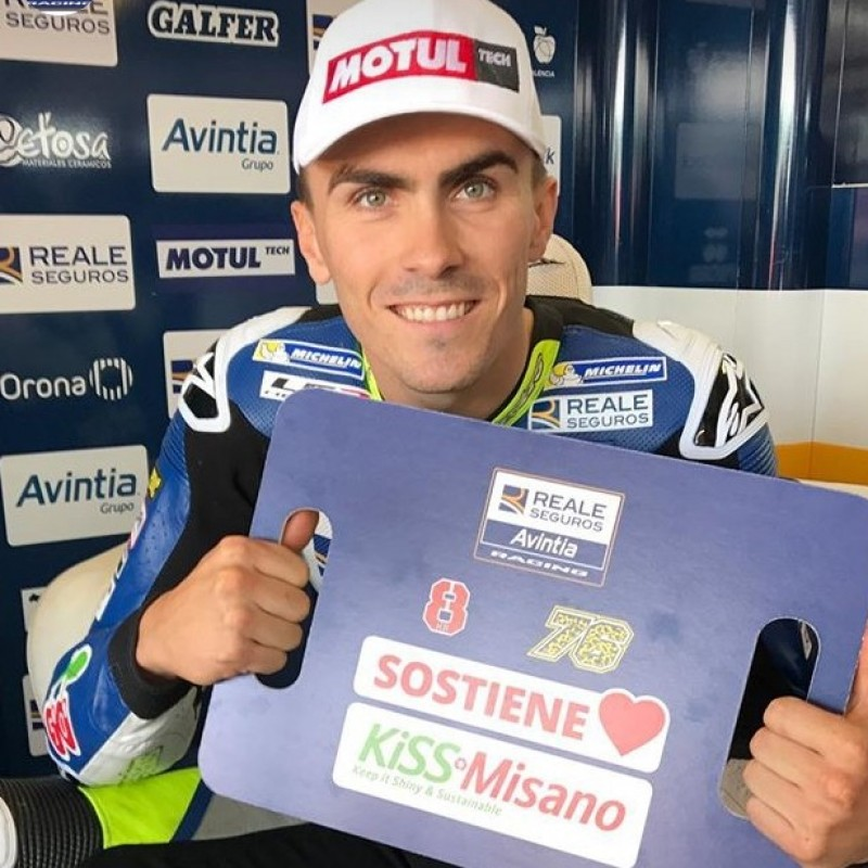 KiSS Misano Avintia Racing Banner Signed by Barberà and Baz