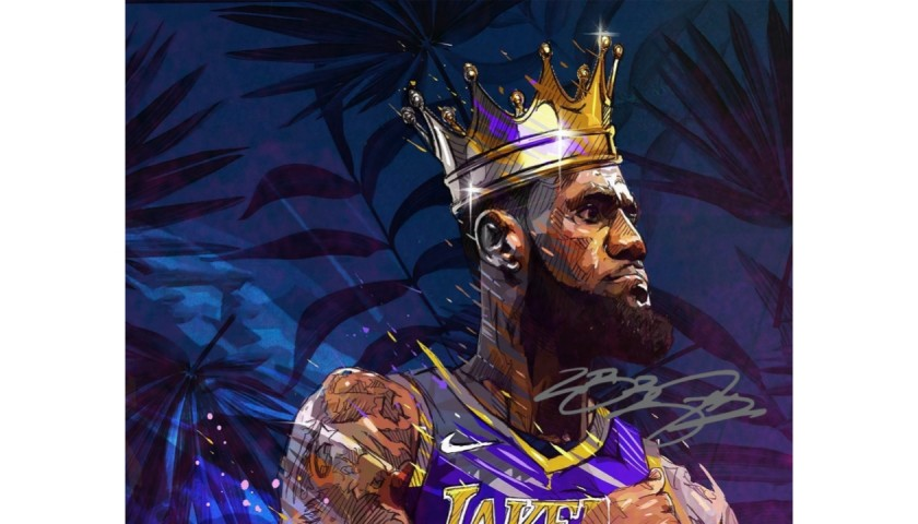 LeBron James Photograph with Digital Signature