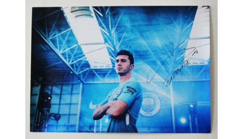 Aymeric Laporte Manchester City FC A2 Signed Photograph