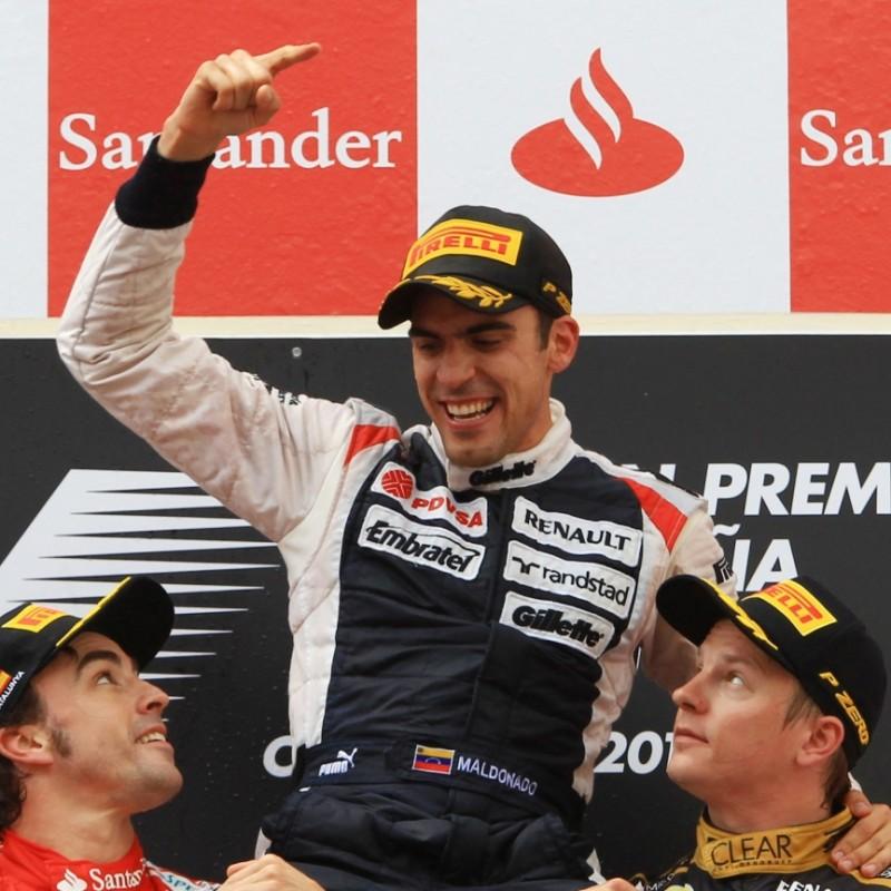 Pirelli Podium Cap Signed by Pastor Maldonado
