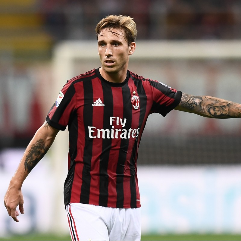 Biglia's Signed Match-Issued 2017 Milan-Bologna Shirt