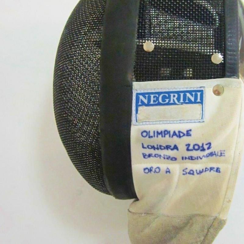Foil mask Valentina Vezzali, worn at London Olympic Games 2012 - signed