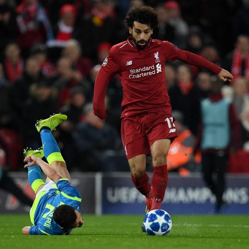 Salah's Worn and Unwashed Shirt, Liverpool-Napoli 2018