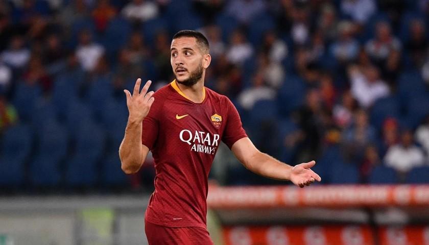 Signed Kostas Manolas Roma Shirt 2018/19 - CharityStars